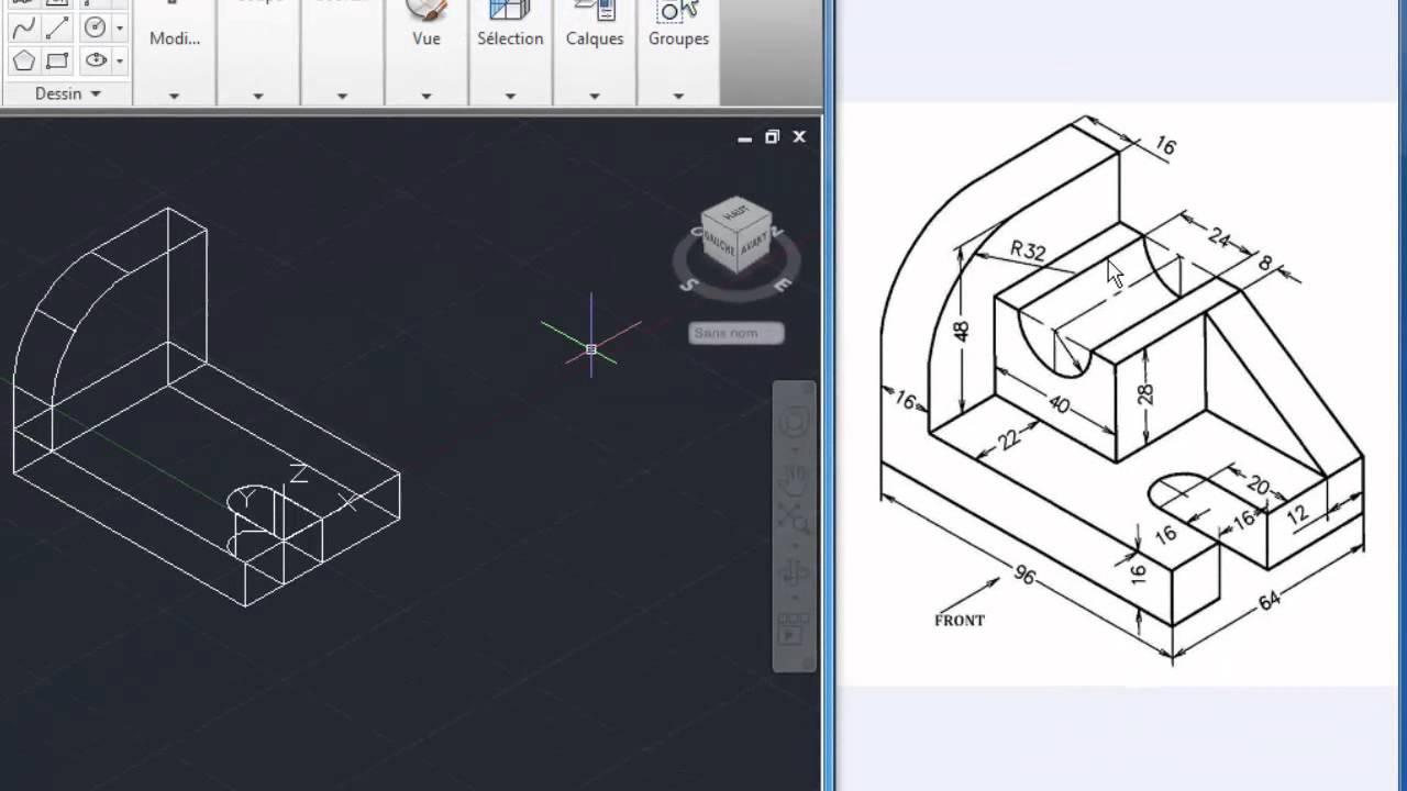 Leçon 2 Autocad : Comment Réaliser Une Pièce 3D
