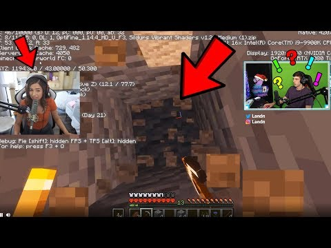 Donating to Make Pokimane DIG STRAIGHT DOWN in Minecraft ..