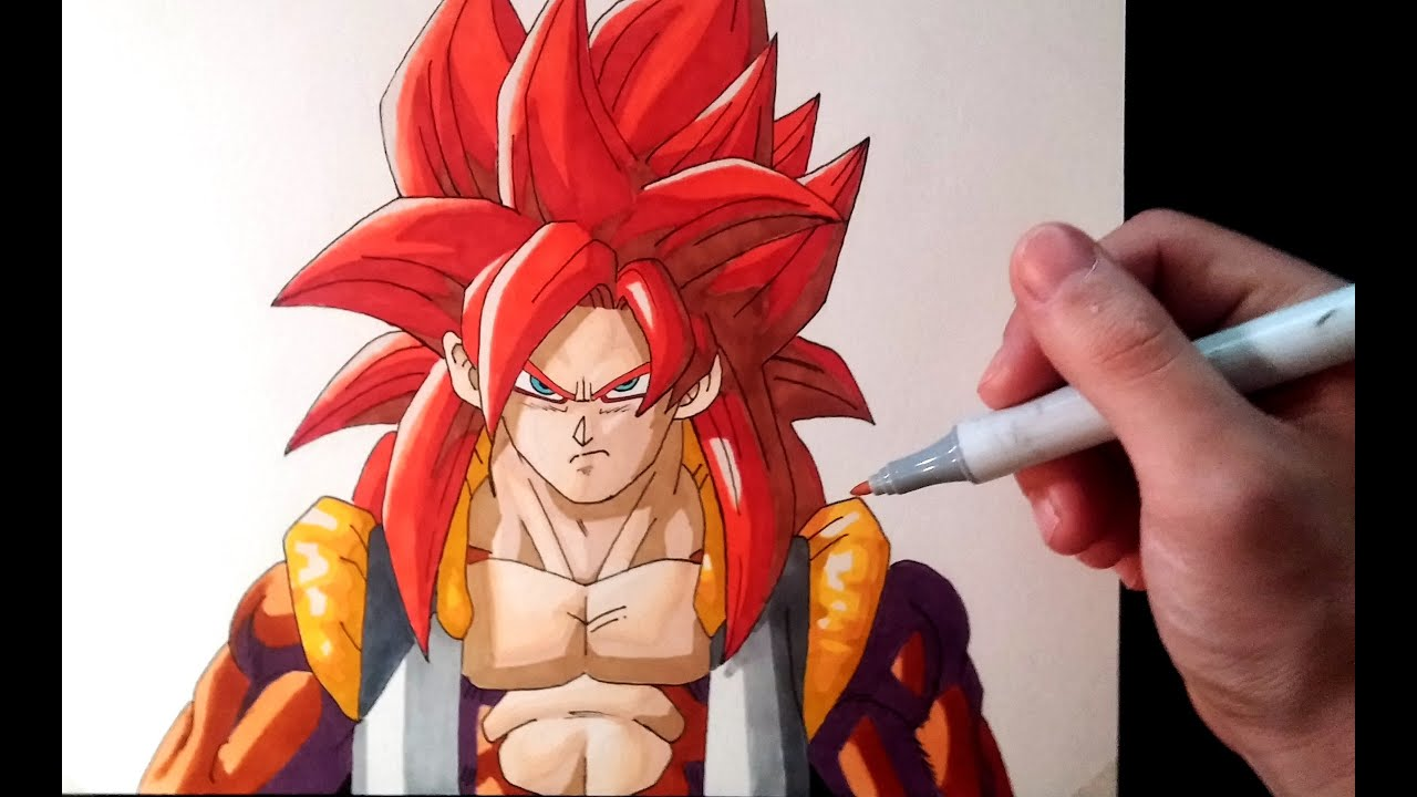 Cómo Dibujar A Gogeta Ssj4 How To Draw Gogeta Ssj4 Artemaster Youtube