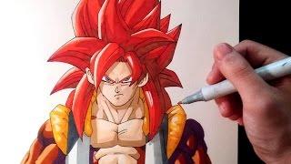 Cómo dibujar a Gogeta SSJ4 | How to draw Gogeta SSJ4 | ArteMaster