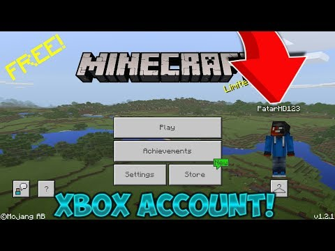 How To Make a Xbox Live Account For MCPE 1.2!