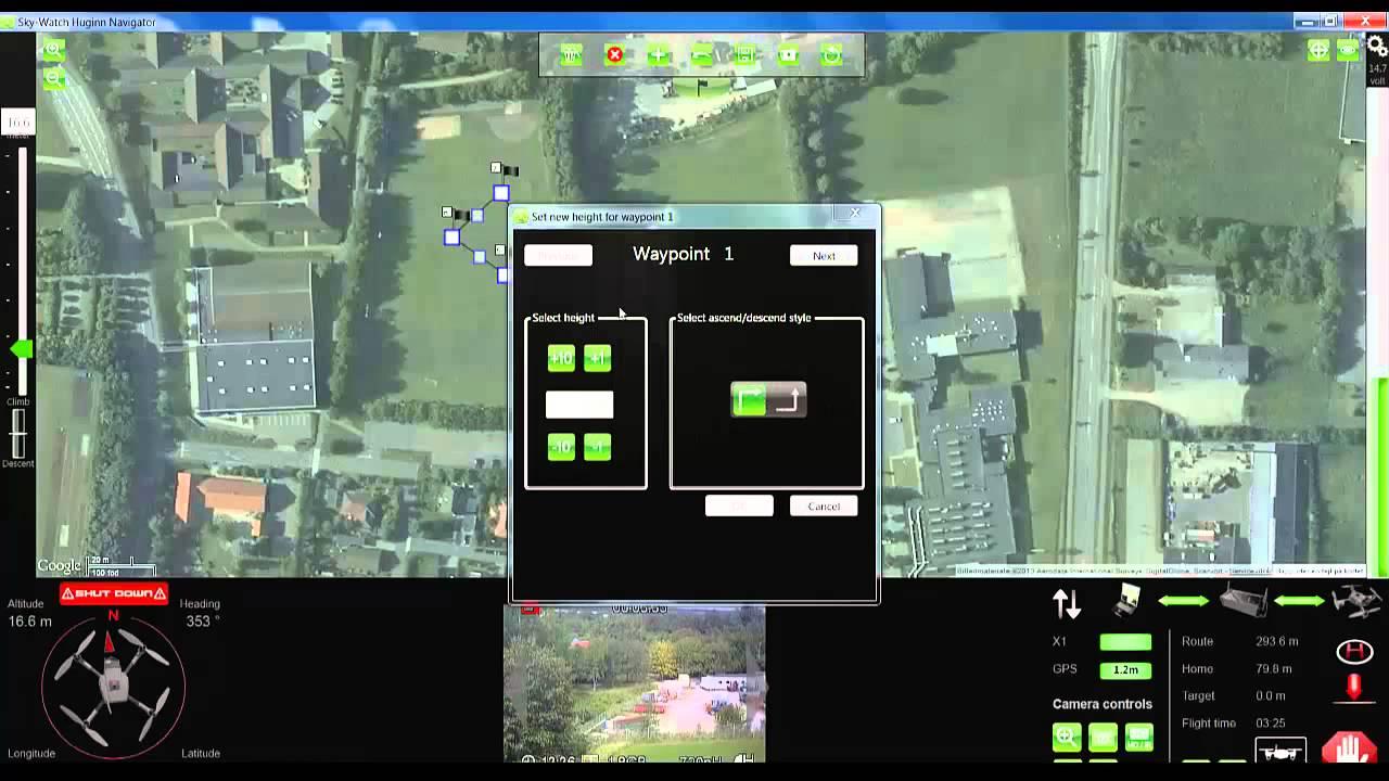 Timeless Technologies Huginn X1 UAV Drone Control Screen