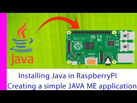 Installing java in Raspberry PI and creating and running Java ME application in raspberry