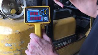 Forklift Tailpipe Emissions Test - 2 Gas Exhaust Gas Analyzer CO/HC