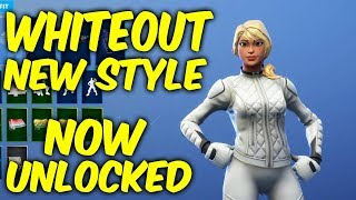 Fortnite whiteout skin new style - NOW UNLOCKED