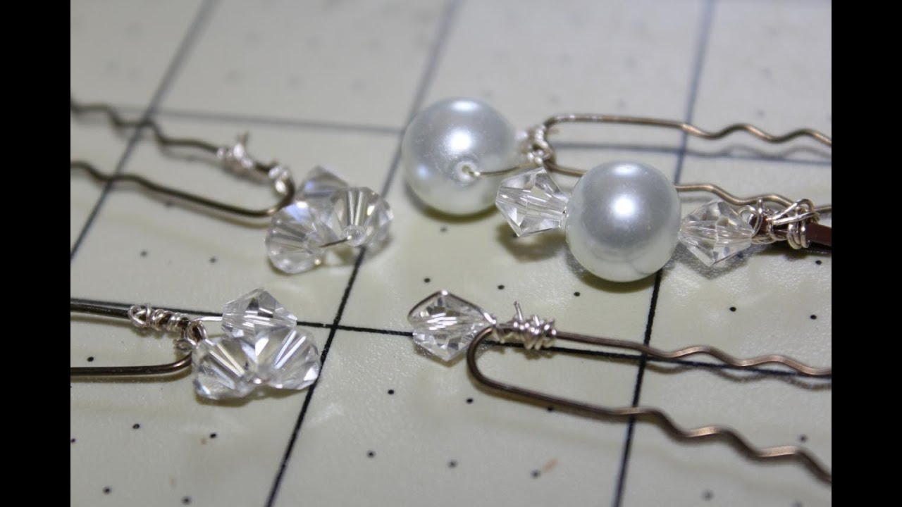 How To Make Pearl Or Crystal Bobby Pins Appropriate For A