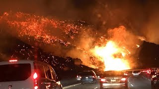 CALIFORNIA FIRE SCARY FOOTAGE, DAMAGE, CAUGHT ON CAMERA