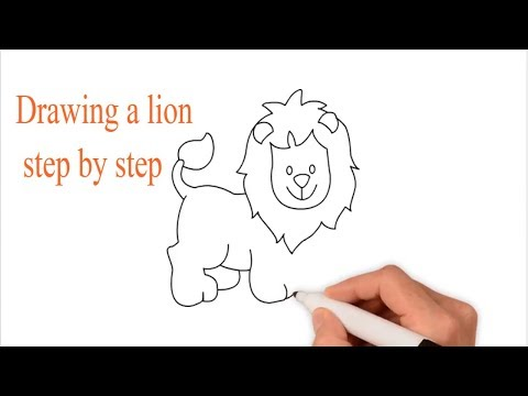 How to Draw a Lion step by step easy for kids | Learn colors for kids