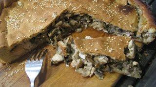 Пирог на огуречном рассоле с курицей и грибами//Pie with chicken and mushrooms