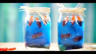 How To Make Edible Mason Jar Aquariums With Jell-o