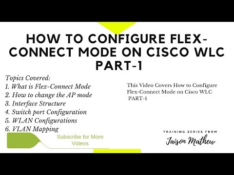 How to Configure Flexconnect Mode on Cisco WLC PART 1 - YouTube