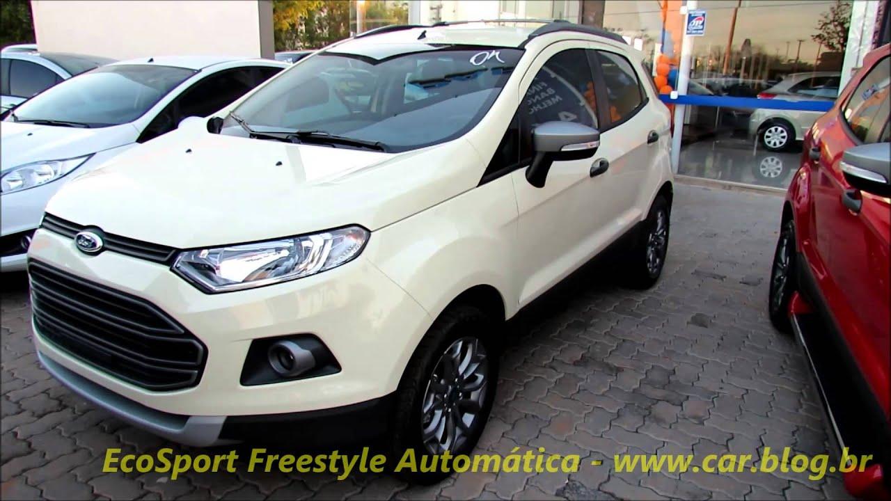 Ford Ecosport Freestyle Autom 225 Tica 2015 Branco Vanilla