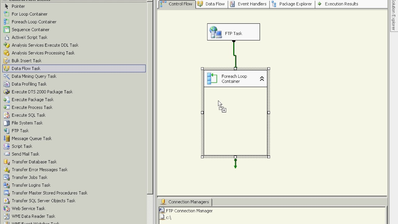 MSBI - SSIS - Downlaod Multiple Files With FTP Task SSIS - Part-50