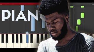 Khalid Talk Disclosure Piano Midi tutorial Sheet app Cover Karaoke