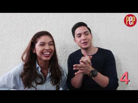 "Alden Richards and Maine Mendoza play ""I Like You Meter"""