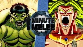 one minute melee s4 ep2 hulk vs broly marvel vs dbz