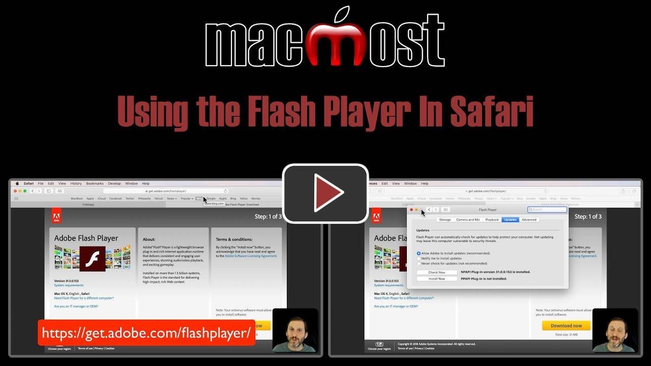 Using the Flash Player In Safari