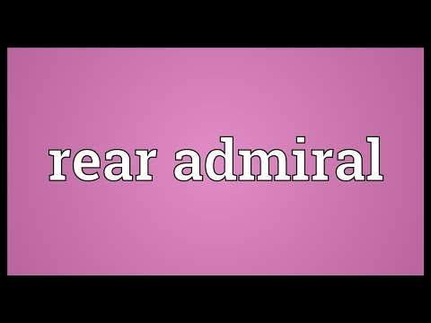 Rear admiral Meaning