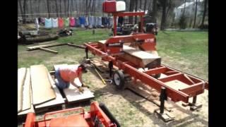 Wood Mizer Lt-15 Milling Red Oak Bar Tops ++