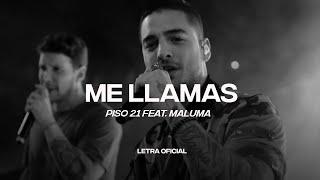 Piso 21 Feat. Maluma - Me Llamas (Remix) (Lyric Video) | CantoYo