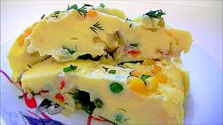 Омлет на пару с овощами вкусно и полезно для детей и взрослых