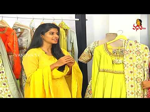 Zardosi Work Heavy Gear Anarkali Dress | Fashion Designer Divya Reddy Collections | Vanitha TV