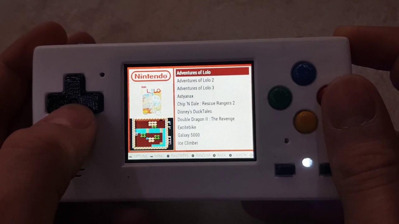 Piboy Micro An Micro Sized Homemade Portable Retrogaming