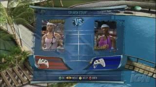 Top Spin 2 Xbox 360 Gameplay - Splash Mini-Game 1