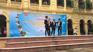 140324 Sinh hoạt dưới cờ lớp 10D7 (13-16) - trường THPT Việt Đức