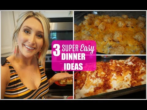 3 SUPER EASY & AFFORDABLE DINNER IDEAS | COOK WITH ME