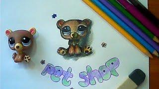 Как рисовать с натуры  / Рисуем LPS Pet Shop / Рисунок Пет Шоп в 3 d(Как нарисовать с натуры игрушку LPS Pet Shop (Пет Шоп ) в 3D. Учимся рисовать объем, рисуем игрушку. Рисуем вместе!..., 2016-11-11T06:00:01.000Z)