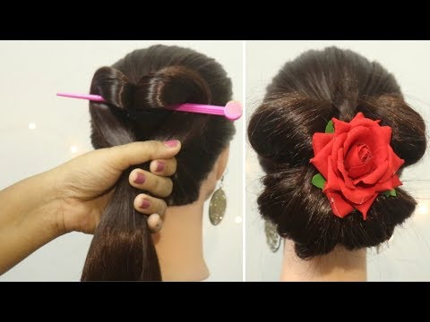 quick-&-easy-butterfly-bun-hairstyle-|-bun-hairstyles-for-girls-|-easy-hairstyles-|-new-bunhairstyle