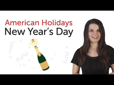 Learn American Holidays - New Year's Day Holiday