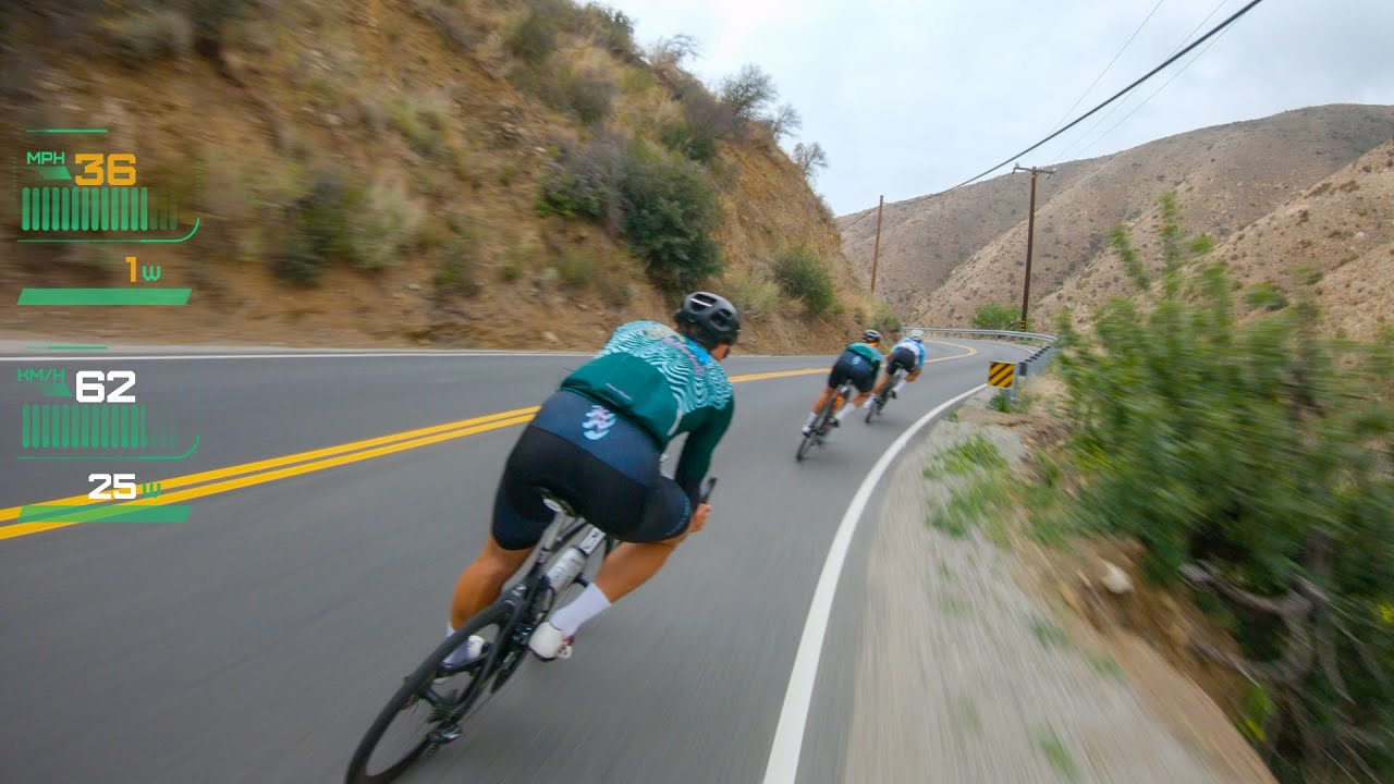 Snaking Down a Malibu Descent With Friends