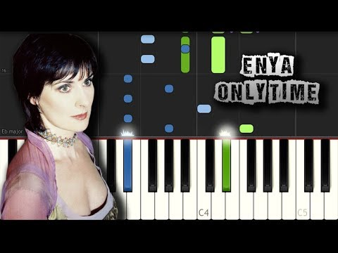 Enya - Only time - Piano Tutorial Synthesia (Download MIDI)