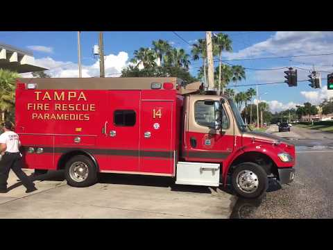 Tampa Fire Rescue Rescue 14 Engine 14 And Tower 14 Returning