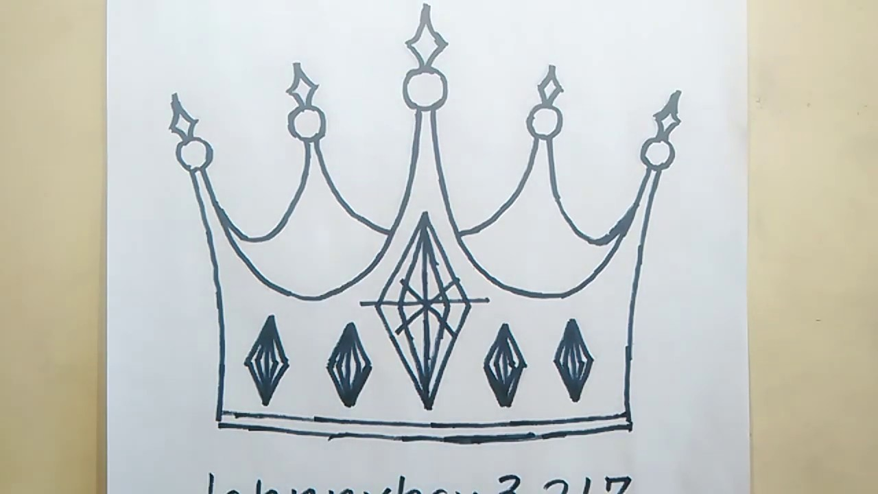 How To Draw A Kings Crown Step By Step King For Kids Cartoon Prince Royalty