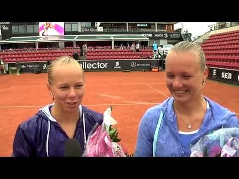 Bertens and Larsson doubles winners