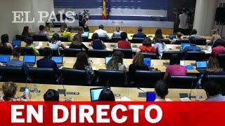 DIRECTO | Rueda de prensa desde el CONGRESO