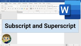 Microsoft Word: Using Subscript and Superscript thumbnail