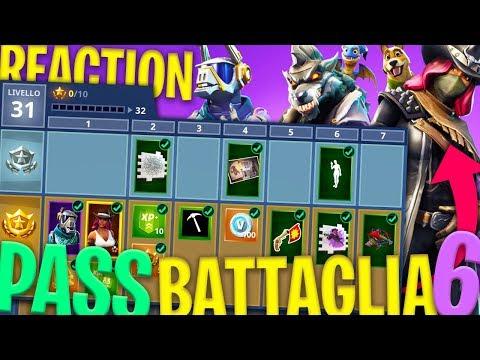 REACTION AL PASS BATTAGLIA 6 E TUTTE LE NOVITÀ - Fortnite Battle Royale ITA w/ Tear Tano Heme