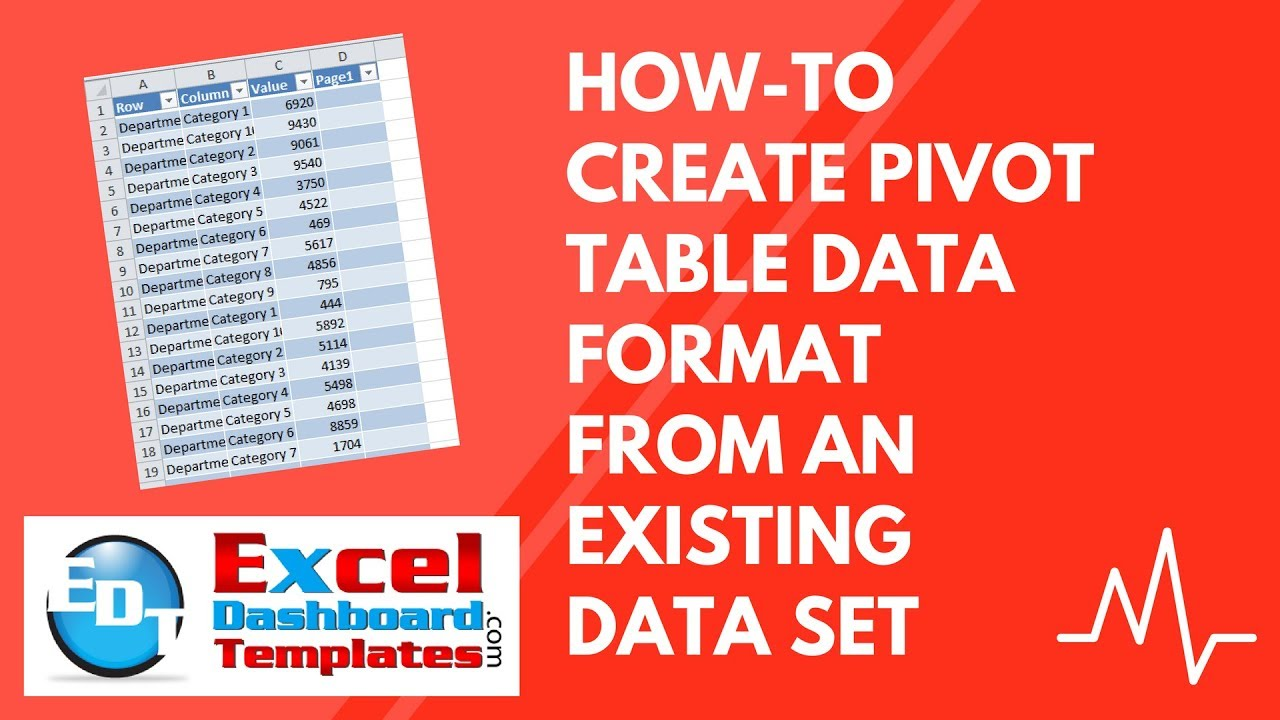 How-to Create Pivot Table Data Format from an Existing Excel Data ...