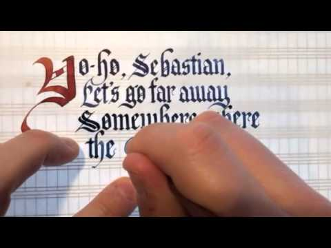 """Calligraphy - Cosmo Jarvis, """"Gay Pirates"""""""