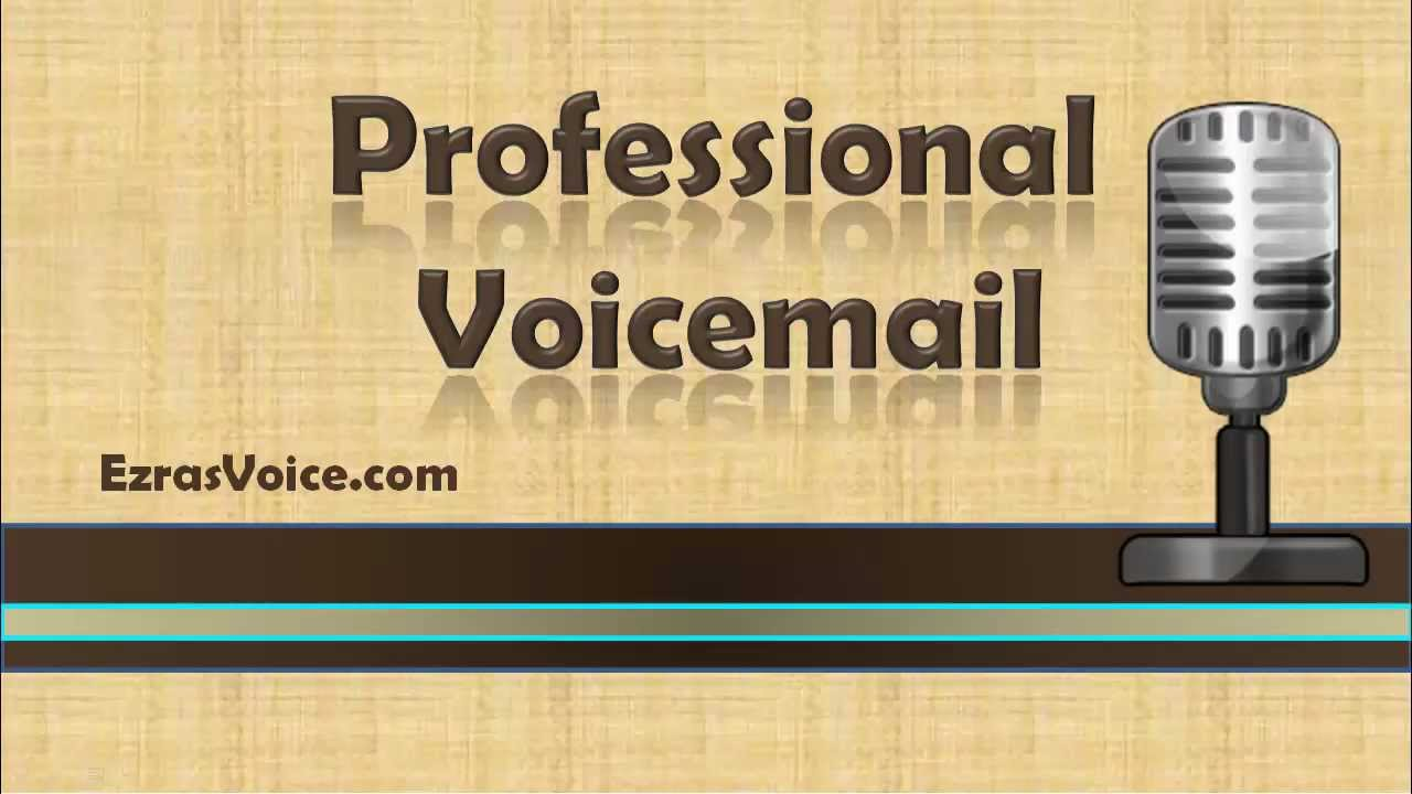 Professional voicemail voicemail greetings examples professional professional voicemail voicemail greetings examples professional voicemail greeting youtube m4hsunfo Image collections