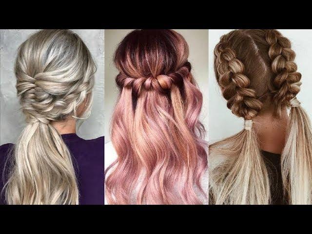 Lindo y sin esfuerzo videos de peinados faciles y rapidos Fotos de tutoriales de color de pelo - PEINADOS FÁCILES Y RÁPIDOS 2020 ️ Easy Hairstyles Tutorial ...