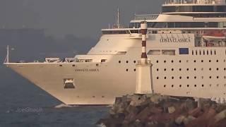 Costa Classica leaving Mormugao Port, Goa  4 1 18