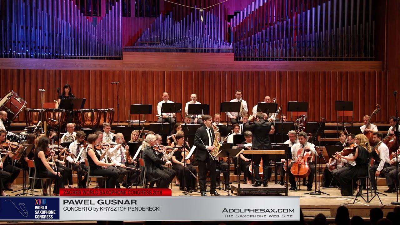 Concerto by Krysztof Penderecki   Pawel Gusnar  XVIII World Sax Congress 2018 #adolphesax