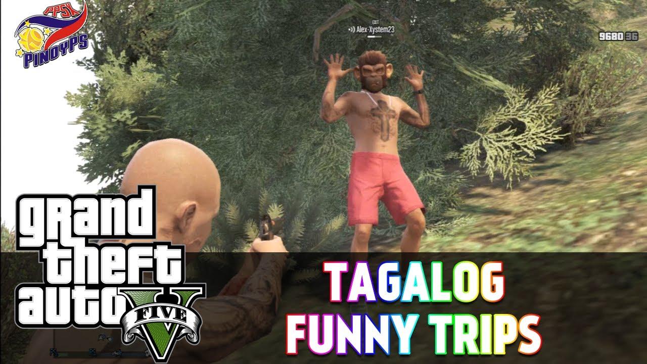 GTA 5 Online Tagalog Funny Trips: Boom Panes!, Monkey Hunt ...