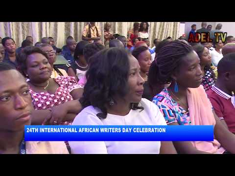 PRESIDENT AT THE 24TH INT'L AFRICAN WRITER'S DAY CELEBRATION AKM