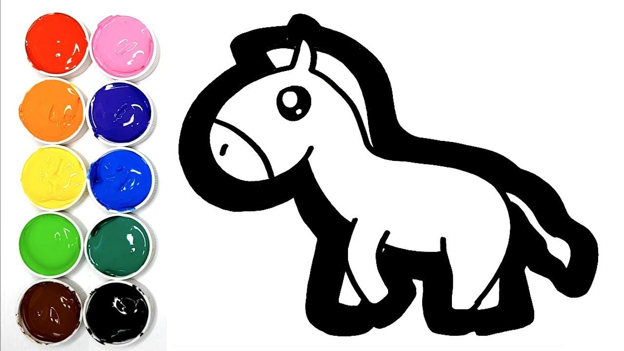 Dessiner un ne arc en ciel kiwi kids club youtube - Dessiner un ane ...